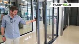 Hliníkový dveřní skládací systém - až 14 křídel