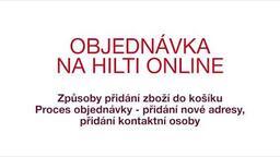 Objednávka na Hilti Online