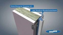 NovoPorta Premio T30 / MZ - Die neue zweiteilige Umfassungszarge für Montage in Montagewände
