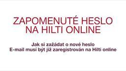 Zapomenuté heslo na Hilti Online