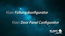 Haustürfüllungen im Fensterbauprogramm - Klaes Füllungskonfigurator [DE]