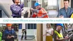 CLIQ® Connect - Access control management for the mobile world