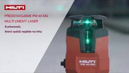 Hilti PM 40-MG - Multi-liniový zelený laser