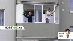 Konstrukce zasklení balkónu