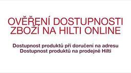 Ověření dostupnosti zboží na Hilti Online