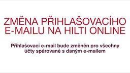 Změna přihlašovacího e-mailu na Hilti Online