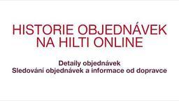 Historie objednávek na Hilti Online