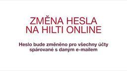 Změna hesla na Hilti Online