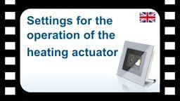 B-Tronic CentralControl: Settings for the operation of the heating actuator
