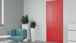Protipožární hliníkové dveře ze systému izool 80 FIRE+