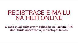 Registrace e-mailu na Hilti Online