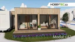 Rozšiřující moduly mobilního domu - 4 velikosti