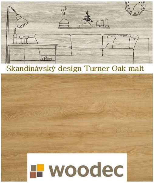 TURNER OAK MALT s designem skai woodec