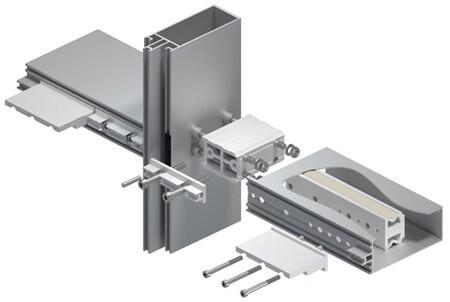 Nové řešení těžkého spoje pro sloupko-příčkovou fasádu MB-SR50N svysokou nosností až 5,5kN!