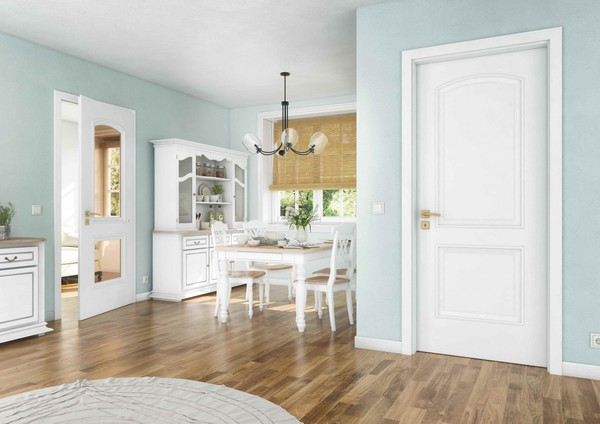 Bílá je dobrá - barva interiérových dveří