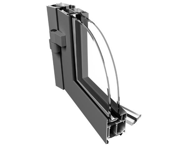 Tříkomorové hliníkové dveře PONZIO PE 68