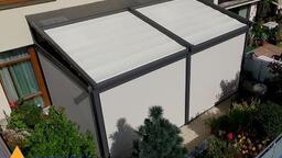 Realizace pergoly Novo se stahovací střechou