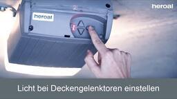 Licht bei Deckengelenktoren einstellen | heroal Services