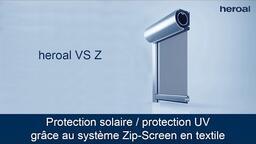 Protection solaire / protection UV grâce au système Zip-Screen en textile | heroal VS Z