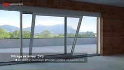 Système SFS de portes coulissantes à levage pour architectes et maîtres d'oeuvre