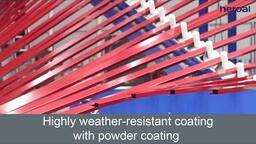 Highly weather-resistant coating with powder coating | heroal hwr coating
