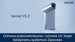 Ochrona przeciwsłoneczna / ochrona UV dzięki tekstylnemu systemowi Zipscreen | heroal VS Z