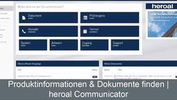 Produktinformationen & Dokumente finden im heroal Communicator | heroal Services