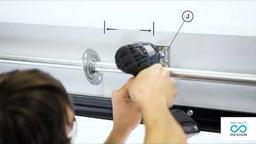 Assembly instructions for the sectional garage door