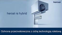 Ochrona przeciwsłoneczna zcichą technologią roletową | heroal rs hybrid