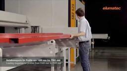 SBZ 628 - Stabbearbeitungszentrum Eintransport/loading (2015) - elumatec AG