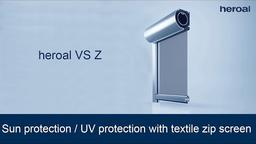 Sun protection / UV protection with textile zip screen | heroal VS Z