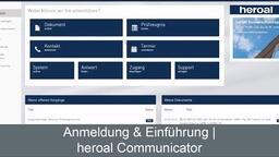 Anmeldung & Einführung in den heroal Communicator | heroal Services