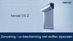 Zonwering / uv-bescherming met stoffen zipscreen | heroal VS Z