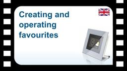 B-Tronic CentralControl: Creating and operating favourites