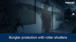 Burglar protection with roller shutters | heroal products