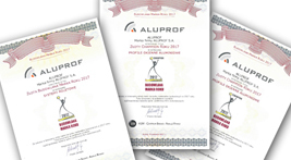 Zlatá Stavební značka roku 2017 pro ALUPROF