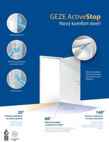 GEZE ActiveStop - Nový komfort dveří