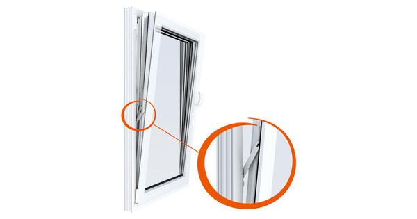 Fixace okenního křídla přes protiprůvanovou pojistku–Windyy