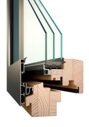 Dřevo - hliníková okna a dveře od firmy OTHERM