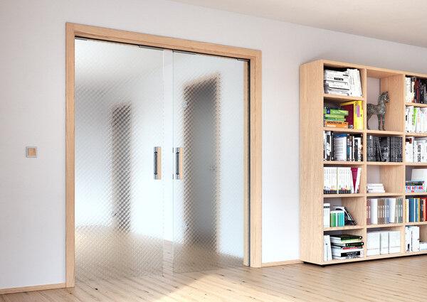 Interiérové skleněné dveře