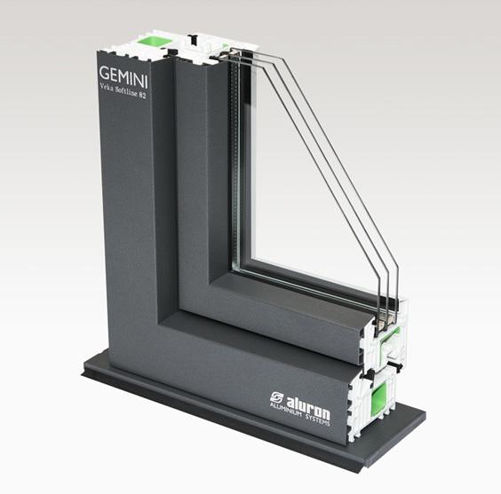 Hliníkové obložení PVC profilů od firmy ALURON