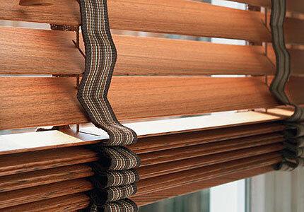 Dřevěné interiérové žaluzie