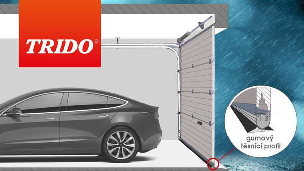 Těsnění pod vrata zlepší ochranu proti zatékání do garáže