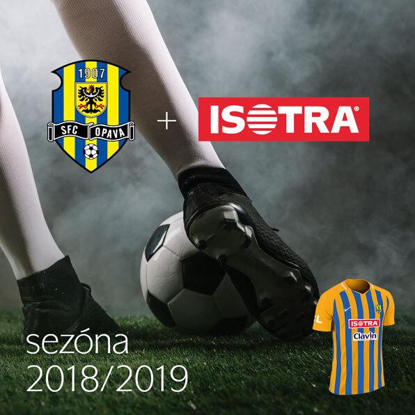 ISOTRA jako exkluzivní partner prvoligového fotbalového klubu SFC Opava