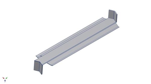 Hliníková úhlová parapetní spojka pro vnitřní úhel 135 stupňů